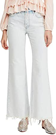 Free People Women's High Rise Straight Flare Leg Jeans