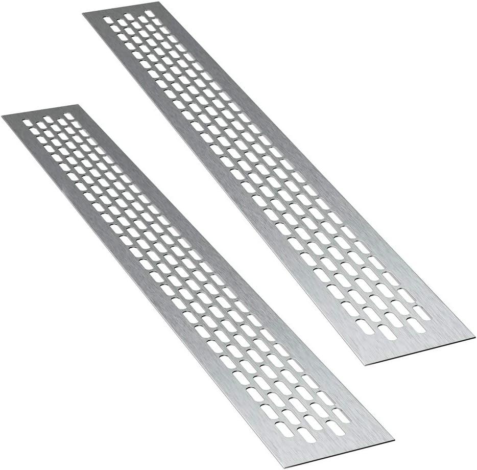 Color: inox | Rectangular 1 pieza Alucratis Rejillas de ventilaci/ón de aluminio rejilla de aire dimensiones: 60 x 245 mm Sossai