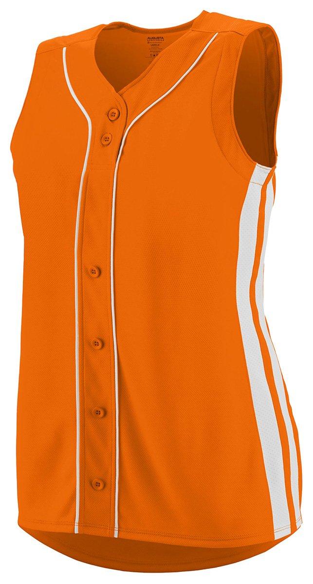 Augusta Sportswear Girls ' WinnerノースリーブSoftball Jersey B01C5G9X0O Small|Power Orange/White Power Orange/White Small
