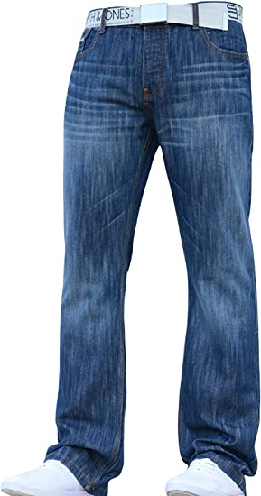 TALLA 34W / 30L. Smith and Jones Jeanbase - Pantalones vaqueros para hombre