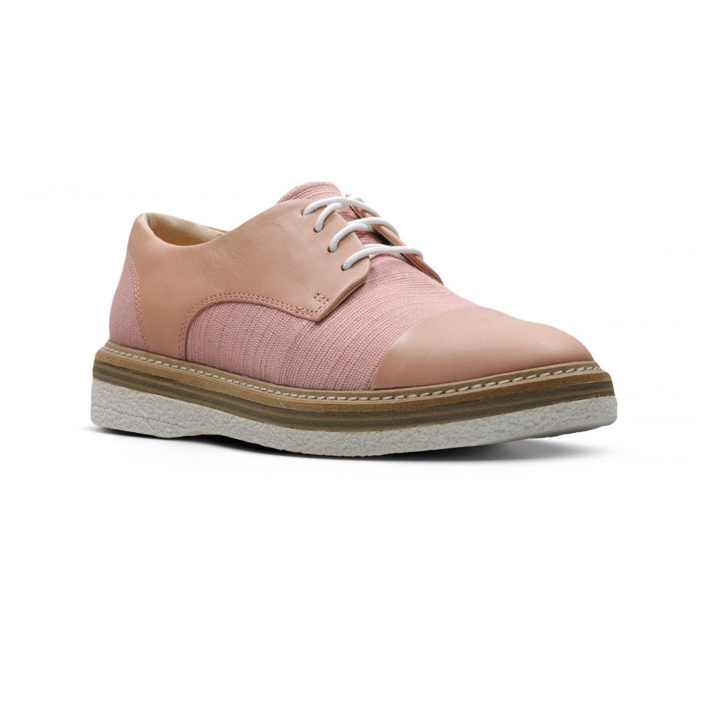 Clarks Zante Sienna - Zapatos de cordones de Lona para mujer Rosa rosa 41 EU