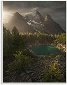 Stupell Industries Lake and Mountain Epic Landscape Photograph, Design by Enrico Fossati Art, 10 x 15, Wall Plaque