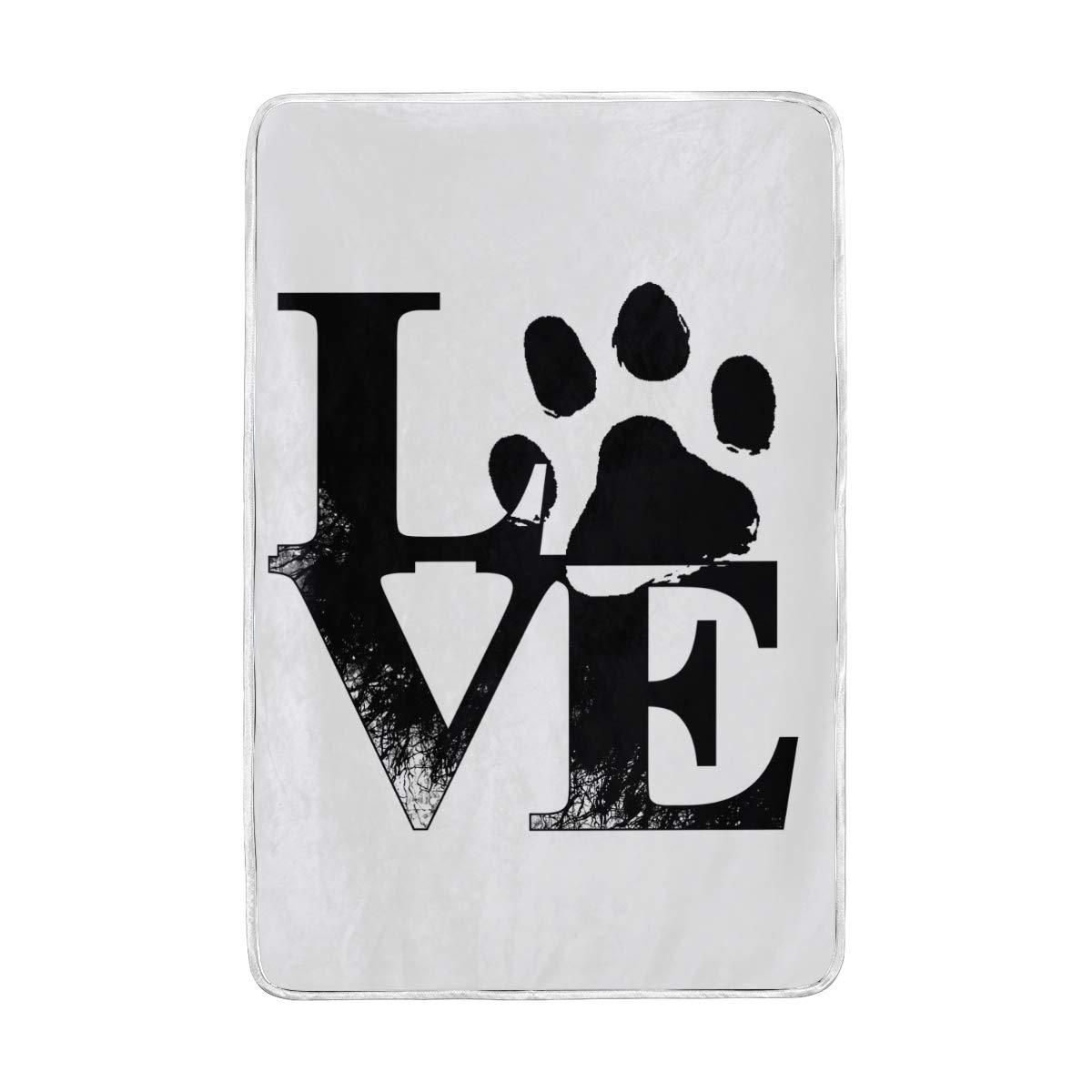 527686564475 Amazon.com: Lilibeely Ultra Soft Microplush Velvet Love Paw Print ...