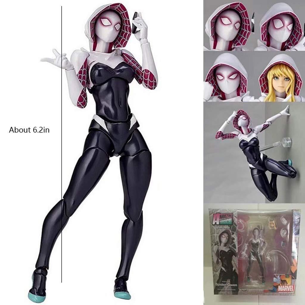 Showkig AMAGUCHI Spider-Gwen Spinne Gwen /über 6.2in PVC Painted Action Figure Game Collection Hobby Puppe handgemachtes Modell