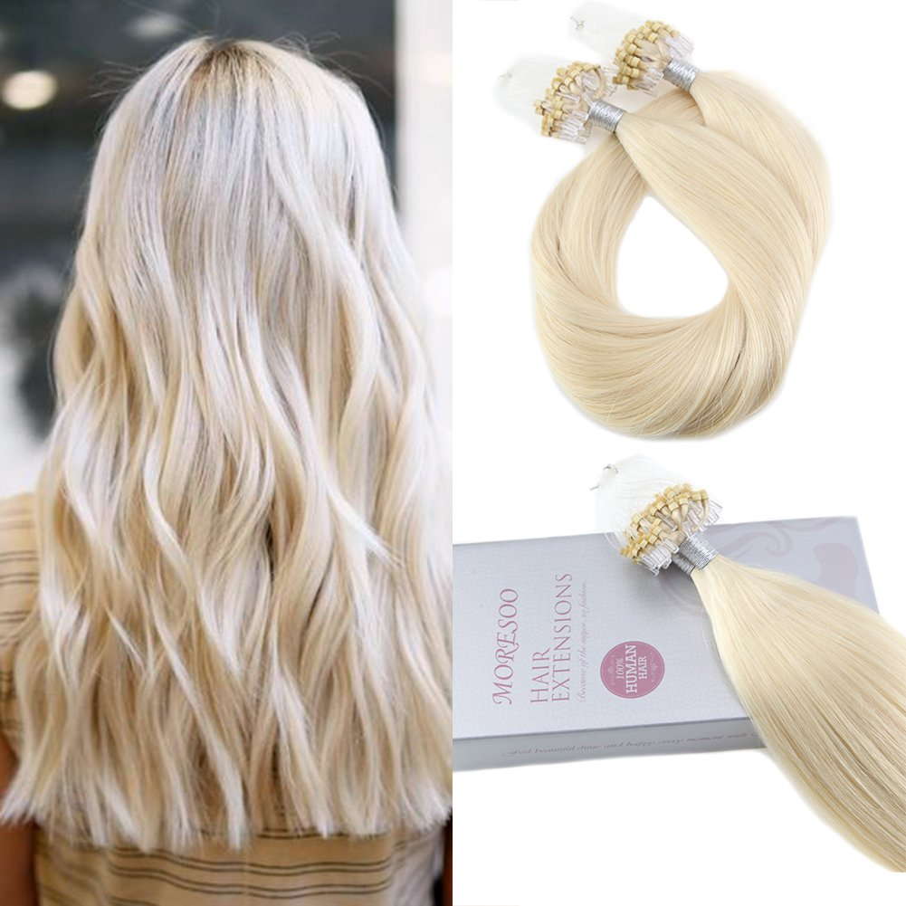 Amazon Ugeat 24 Color 60 Platinum Blonde Real Hair