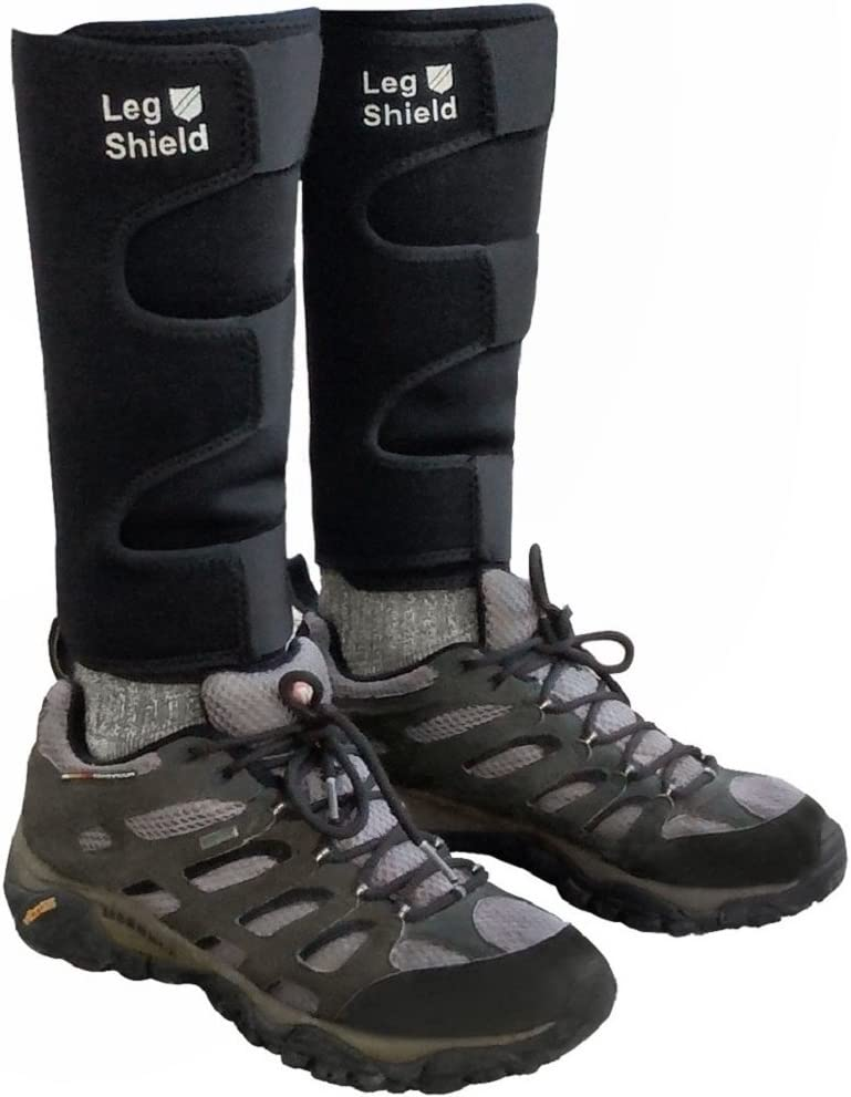 Neoprene Leg Gaiters - Unique Velcro Design for Easy On/Off - for Biking, Outdoors, Hiking, Yard Work, and General Shin/Calf Protection - Comfortable, Snug Fit (Pair): Sports & Outdoors