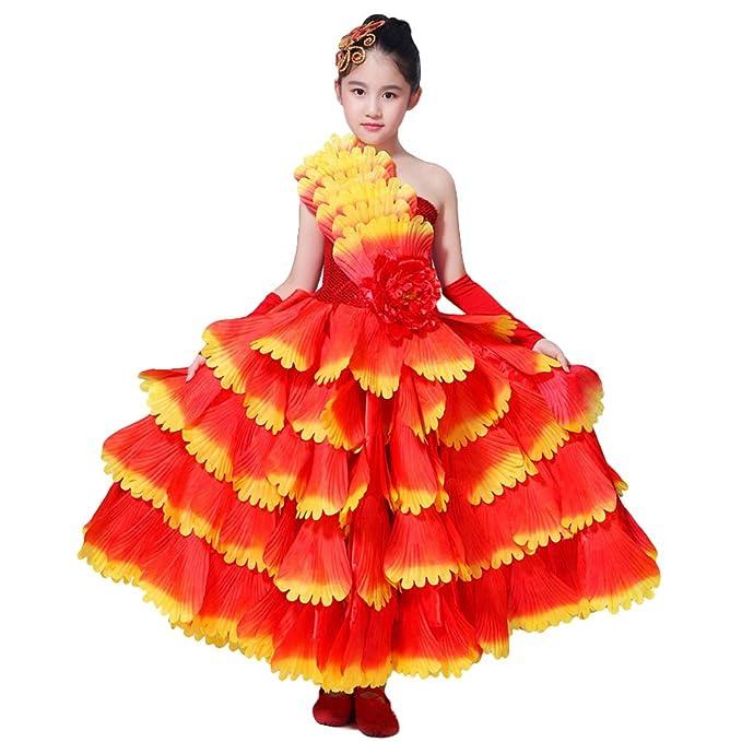 Lolanta Disfraz de Flamenco para niños, Vestido de Baile de ...