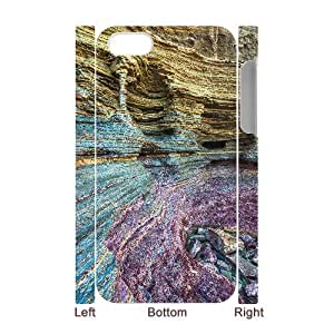 3D Jumphigh Mountain Cliffs IPhone 4/4s Cases Natural Column ?a Sunset Cliffs Unique for Guys, Iphone 4 Case for Girls Unique for Guys [White]