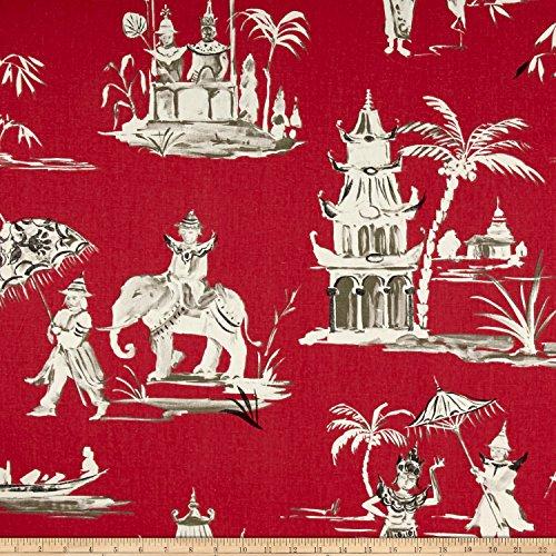 Home Accent Fabrics Pagoda Road Toile, Azalea