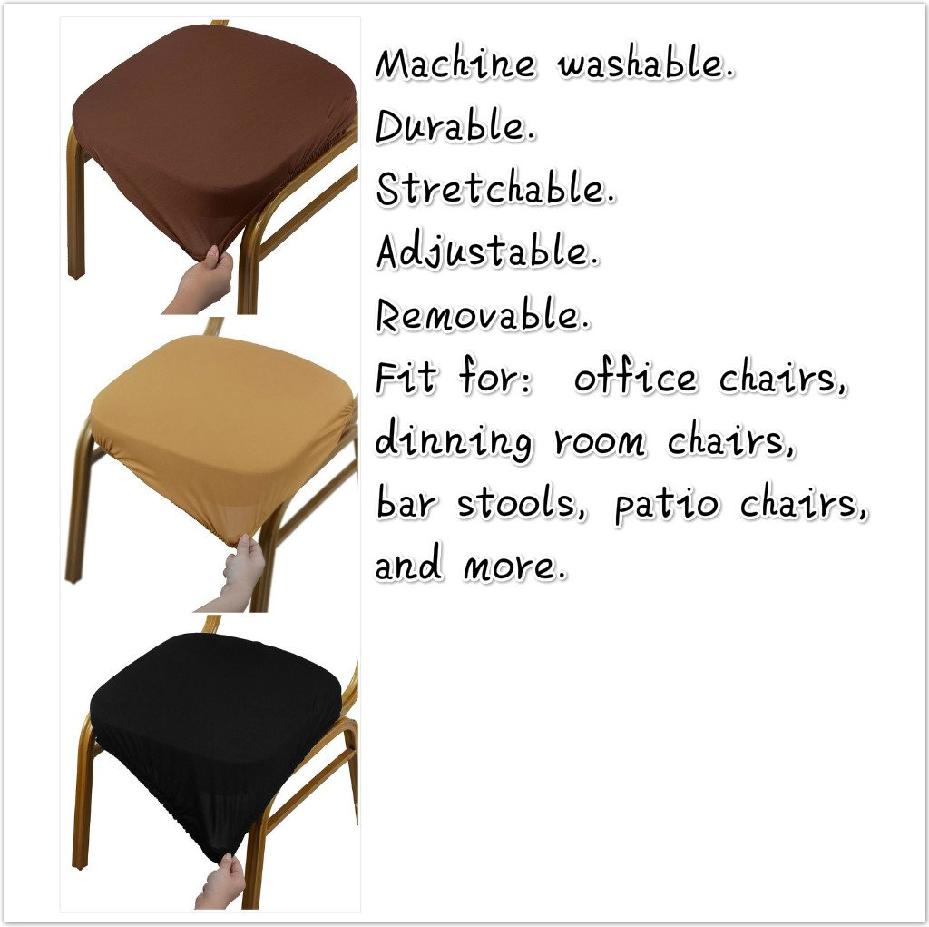 Amazon Boshen 6PCS Elastic Spandex Chair Stretch Seat Covers Protector for Dining Room Kitchen Chairs Stretchable Beige 6 Home & Kitchen