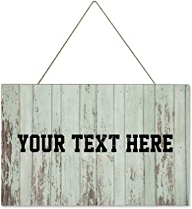 rfy9u7 Personalized Rustic Wooden Sign Custom Plaque Wall Hanging Art Home Decor for Exterior Outdoor House Name Sign Ready to Hang Handmade Gifts for Family Members Teachers Friends 10x16 Inch