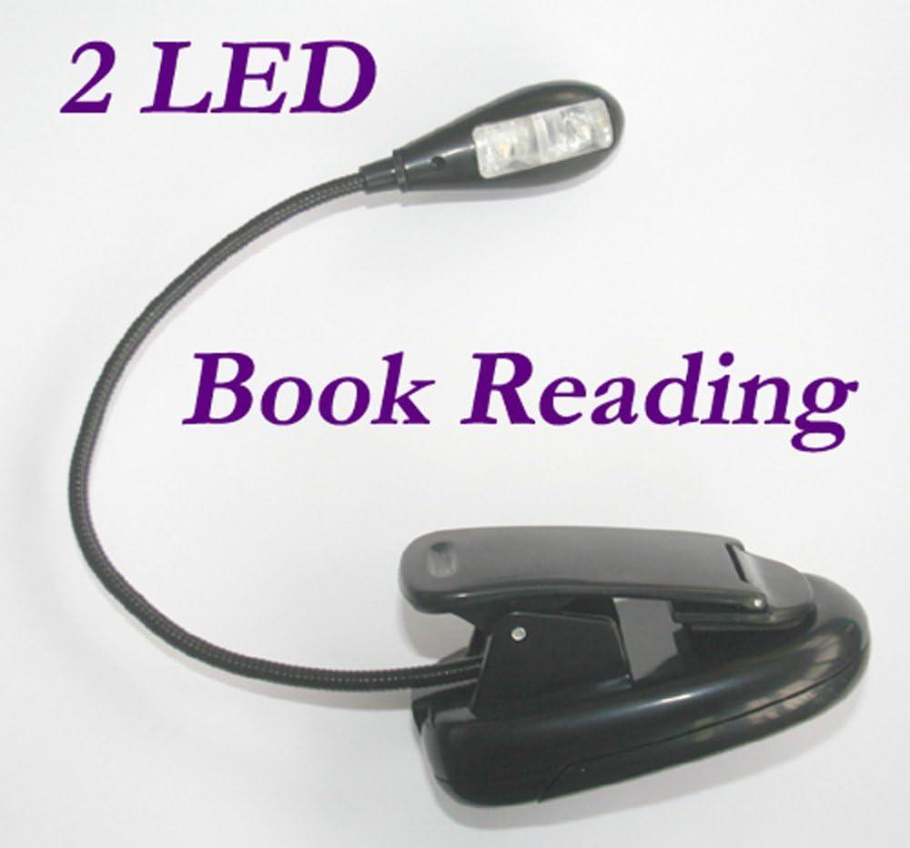 2 LED Buchlampe Leselampe Klemmleuchte Klemm f/ür KINDLE 3