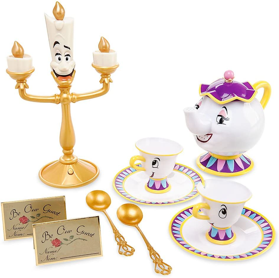 Amazon Com Disney Beauty And The Beast Singing Tea Set Toys Games