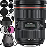 Canon EF 24-70mm f/2.8L II USM Lens Bundle with Manufacturer Accessories & Accessory Kit for EOS 7D Mark II, 7D, 80D, 70D, 60D, 50D, 40D, 30D, 20D, Rebel T6s, T6i, T5i, T4i, SL1, T3i, T6, T5, T3, T2i