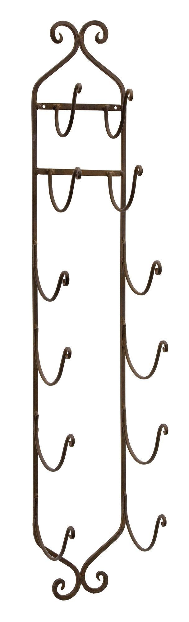 Imax 9748 Towel/Wine Rack in Dark Brown – Compact, Wall Mounted Metal Display Rack for Organizing Towels, Wine Bottles, Hats. Home Storage and Organizing