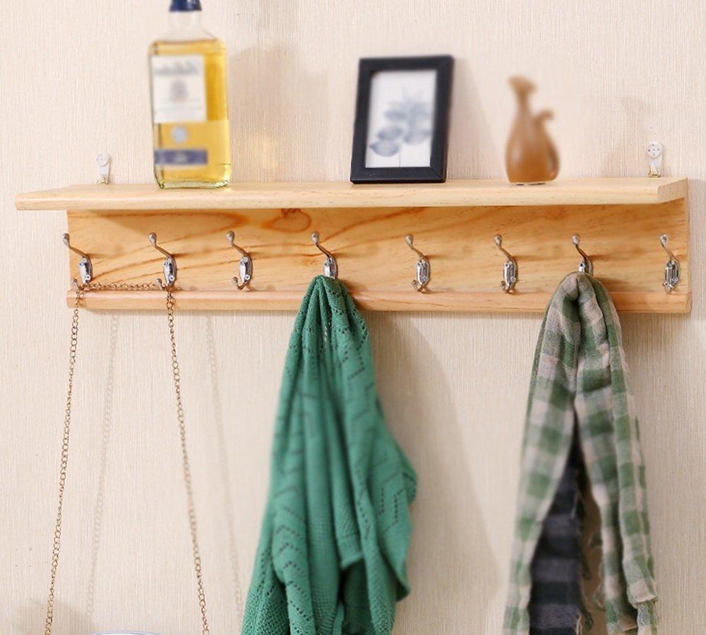 Wood Door Hook / Shelf / Wall Mount Bedroom Coat Hook / Bathroom Wall Hangers / Wood Wall Coat Hooks / Premium Hook Design / Three Sizes Optional Coat Hook / (40/60/8015cm) ( Size : 8015cm )