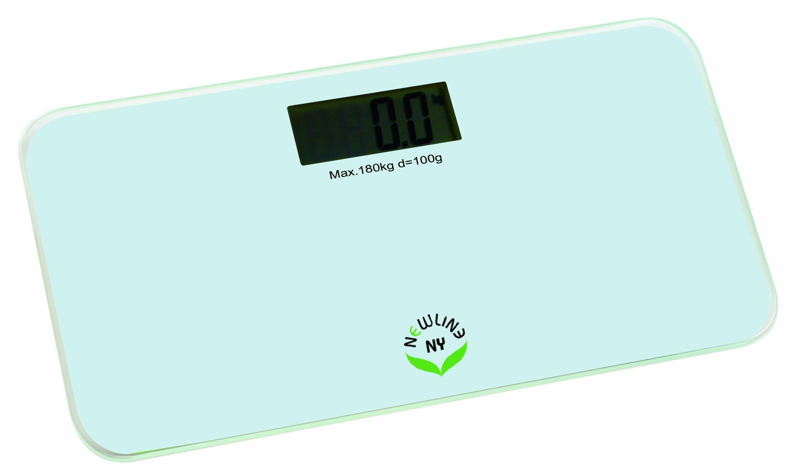 NewlineNY Step-On Mini Digital Travel Bathroom Scale: 5 colors 700-Series (White)
