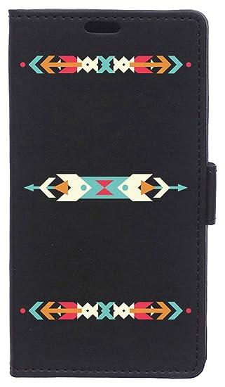 BeCool Funda Libro para Motorola Moto G6 Plus- Carcasa con función Soporte, Ranuras para tarjetes y Billetes, Diseño Flechas de Colores