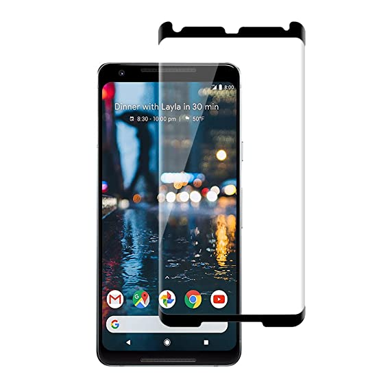 sneakers for cheap 634b7 24338 GLASS-M Google Pixel 2 XL Tempered Glass Screen Protector, Ultra HD Clear,  Scratch Resistant, Bubble Free, 9H Hardness, Anti-Fingerprint, ...