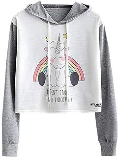 NAWONGSKY Womens Cute Fashion Hoodie Crop Top Sweatshirt