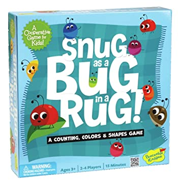 Peaceable Kingdom Snug As A Bug In A Rug Award Winning Preschool Skills  Builder Game For
