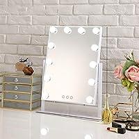 Ziziqw Espejo de baño con Luces LED, Hollywood