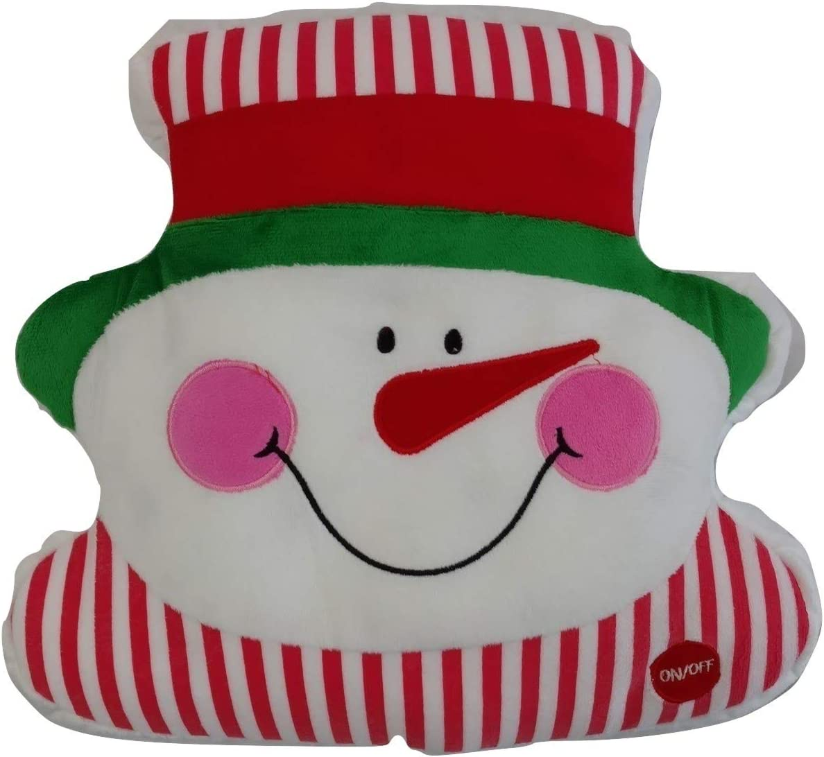 Light Up Snowman Christmas Pillow with LED Lights
