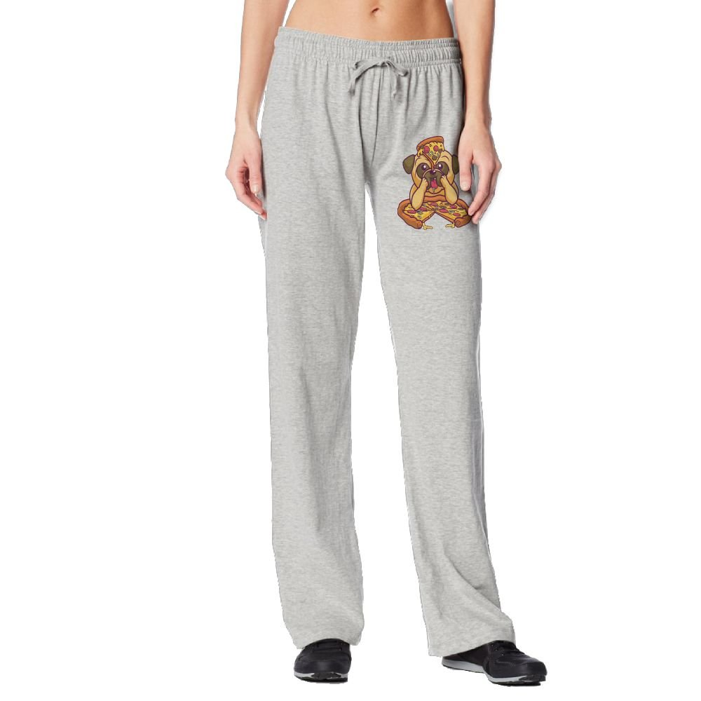 Cindly Pug Love Pizza Women's Long Sweatpants With Pockets 100% Cotton by Cindly (Image #1)