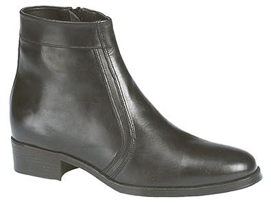989229e87e19 Mens Scimitar Black Softie Leather Zip Ankle Boots size 9  Amazon.co ...