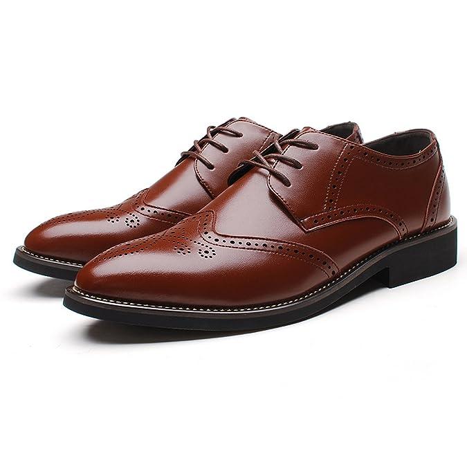 Rismart Herren Uniform- & BerufsSchuhe Büro Brogue Schnürsenkel Oxfords Schuhe SN16856(Marine,EU42)