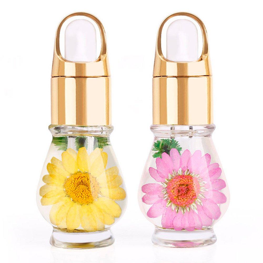 1 PCS Mix Taste Dried Flowers Cuticle Oil Pen Nail Art Care Treatment Manicure