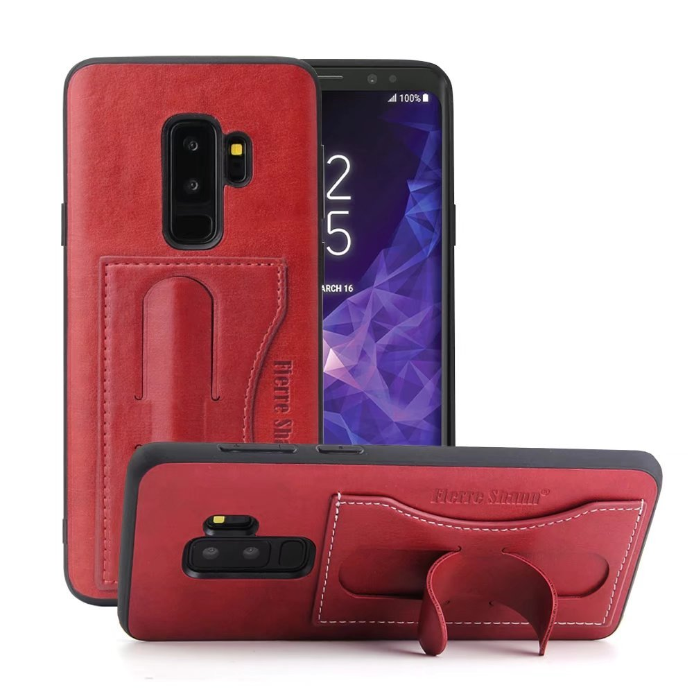Galaxy S9 Plus Case, Maetek Premium PU Leather Wallet Cover, Full Body Folio Slim Back Protective Case with Card Holder and Stand for Samsung Galaxy S9 Plus 6.2inch - Brown SAM S9 Plus