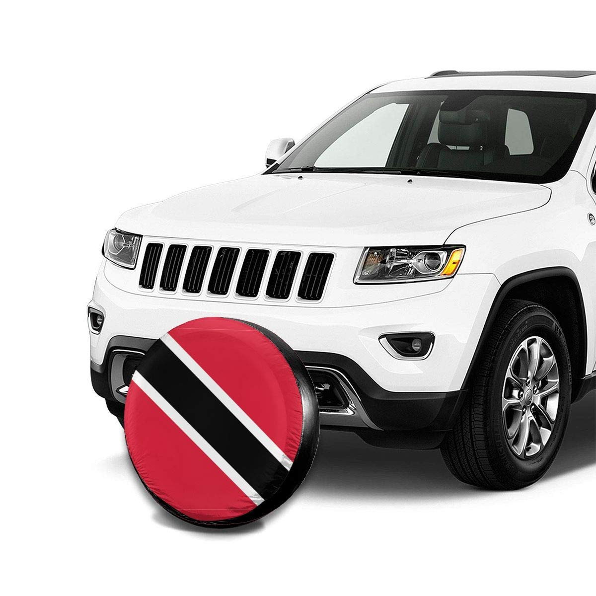 Jackie Prout ss Spare Tire Cover Universal Fit for Jeep,Trailer SUV 14 15 16 17 RV Truck and Many Vehicle