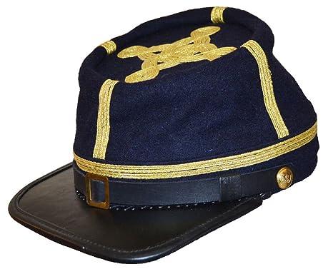 Amazon.com  US Civil War Confederate Full Leather Peak General s ... e5800fa48316