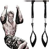 Grofitness rembourré Pull Up Ceinture abdominale Muscle Carver à suspendre Ceinture crossfit Home Gym AB Sangles