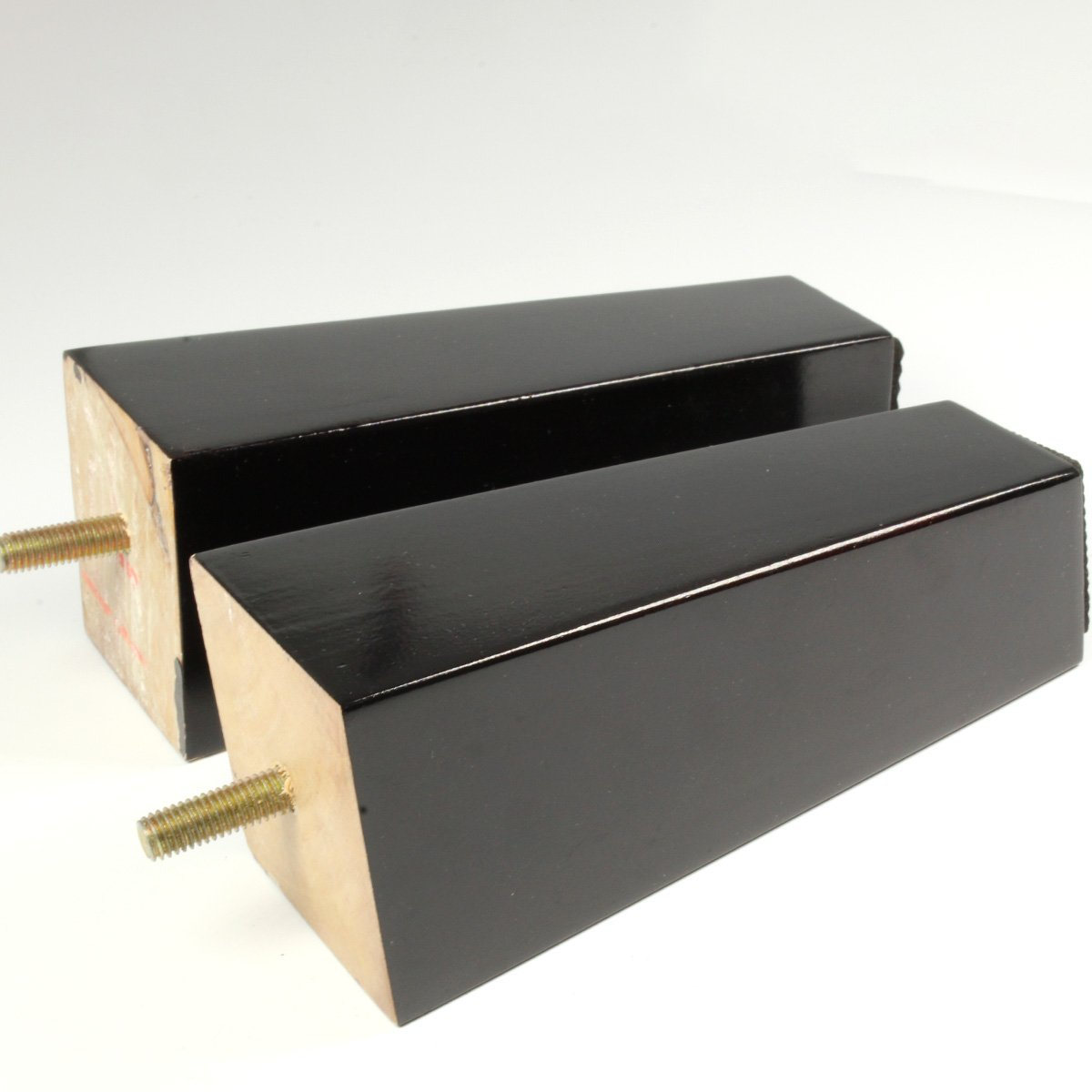 4 x schwarz Holz Möbel Beine Ersatz IKEA Beine Möbel Raise Füße Bett ...
