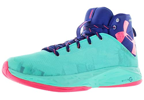 f1a9aaf1a36 Under Armour Men s Fire Shot Basketball Shoes Ice Blue Pink Navy Blue 16 M  US  Buy Online at Low Prices in India - Amazon.in