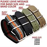 Zhuolei nylon thicken and longer strap 18/20/22/24MM black army-green light-brown colorful