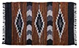 HF by LT Snake River Canyon Handwoven Leather Rug, 27'' x 45'', Multi-Colored