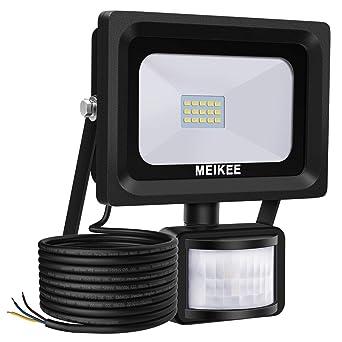 Elegant Projecteur LED Détecteur De Mouvement MEIKEE, 10W 1000LM 6000K Spot Led  Exterieur Avec Detecteur IP66