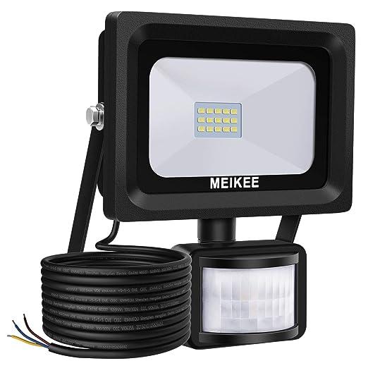 Meikee Faretto Con Sensore Di Movimento 10w Faro Led Esterno Ip66