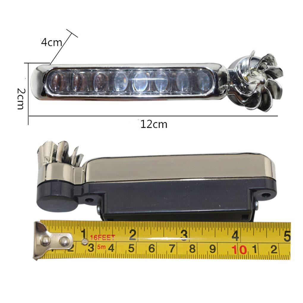 2 Piezas de Energ/ía E/ólica 8 LED Luz Corriente Diurna del Coche Energ/ía E/ólica autom/ático de Faros antiniebla Coche DRL luz de conducci/ón del D/ía