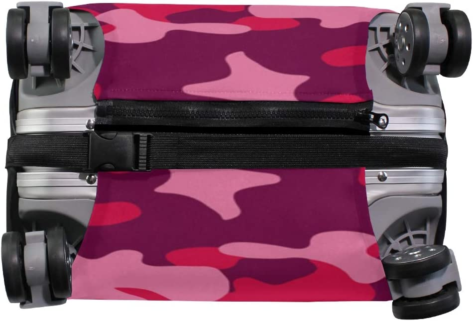 FOLPPLY Pink Camouflage Pattern Luggage Cover Baggage Suitcase Travel Protector Fit for 18-32 Inch