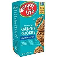 Enjoy Life Crunchy Cookies, Soy free, Nut free, Gluten free, Dairy free, Non GMO, Vegan, Chocolate Chip, 1 Box