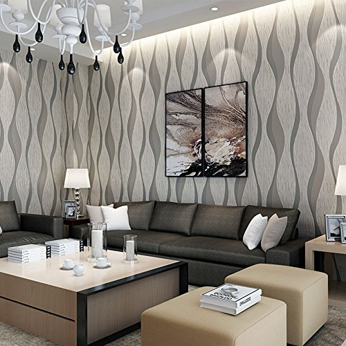 Wall Papers Striped Wallpaper Warm Living Room Bedroom Green 3d