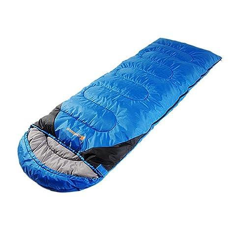 SEABECCA Camping Outdoor Envelope Saco De Dormir-Doble AlgodóN Calidad , blue