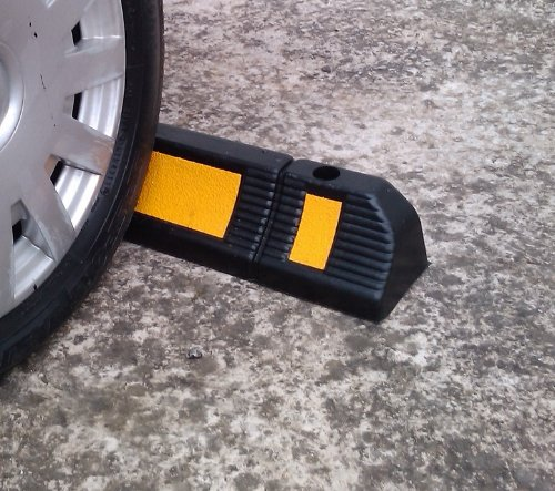Parking Stopper for Garage Floor, Blocks Car Wheels as Parking Aid and Stops the Tires, acting as Rubber Parking Curbs that Protect Vehicle Bumpers and Garage Walls, 23.6''x4.7''x3.9'' (Pack of 2) by SNS SAFETY LTD (Image #2)