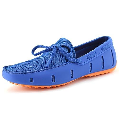 Los Hombres Mocasines Moda Casual Zapatos Flats Transpirable Deslizamiento en Nadar Mocasines Zapatos de conducción: Amazon.es: Zapatos y complementos