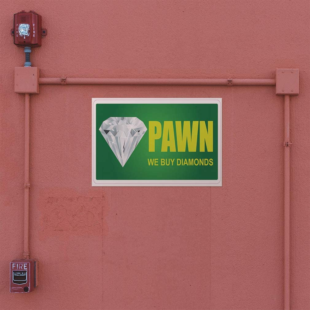 Decal Sticker Multiple Sizes Pawn We Buy Diamonds Restaurant Cafe Bar Business Pawn Outdoor Store Sign White Set of 2 54inx36in