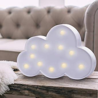 Lampes De 11 Decoking Blanc En 47132 Forme Lot Nuage Chaud Led nwkN8OXZ0P
